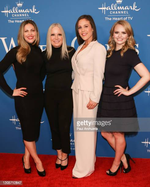 Pascale Hutton Michelle Vicary Erin Krakow and Andrea Brooks attend the Hallmark Channel's When Calls The Heart season 7 celebration dinner and panel...