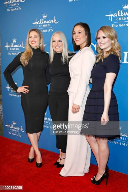 Pascale Hutton Michelle Vicary Erin Krakow Andrea Brooks photographed at the Hallmark Channel's 'When Calls The Heart' season 7 celebration dinner...