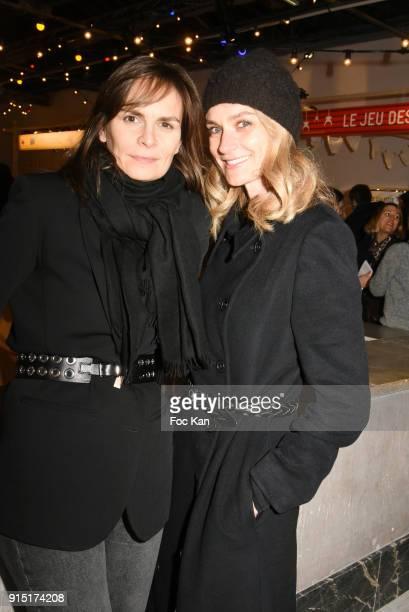Pascale Louange and her guest attend the Fetons 100 Ans De Liberte Les 100 Ans De La Petite Culotte at Palais de on February 6 2018 in Paris France