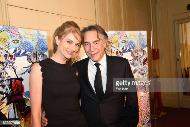 Pascale Louange and Richard Berry attend Gala D'Enfance Majuscule 2017 Charity Gala At Salle Gaveau on March 20 2017 in Paris France
