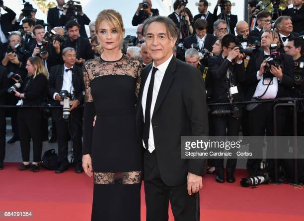 Pascale Louange and Richard Berry attend the Ismael's Ghosts screening and Opening Gala during the 70th annual Cannes Film Festival at Palais des...