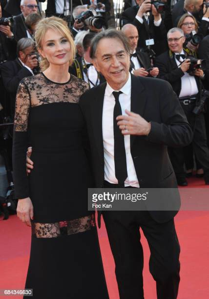 Pascale Louange and Richard Berry attend the 'Ismael's Ghosts ' screening and Opening Gala during the 70th annual Cannes Film Festival at Palais des...
