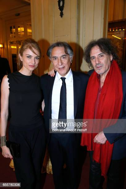 Pascale Louange her companion Richard Berry and Eric Assous attend the Enfance Majuscule 2017 Charity Gala for the benefit of abused childhood Held...