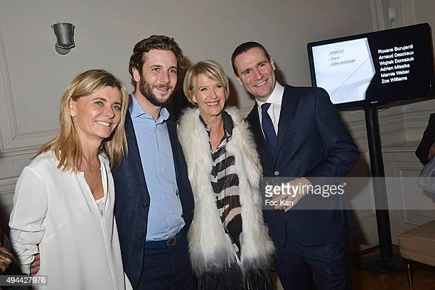 Pascale Richard Paul Charles Ricard Colette Barbier and Alexandre Ricard attend 'Le Bal Jaune 2015' Dinner Party At Hotel Salomon de Rothschild...