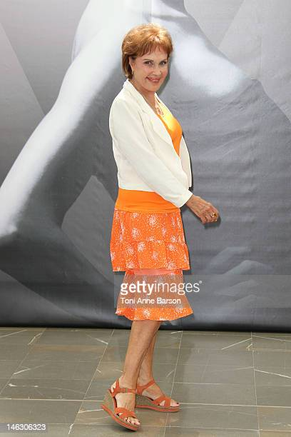 Pascale Roberts attends 'Plus Belle La Vie' photocall at the Grimaldi Forum during the 52nd Monte Carlo TV Festival on June 13 2012 in MonteCarlo...