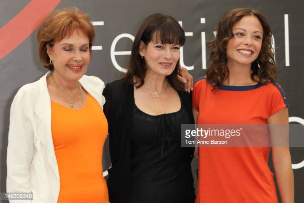 Pascale Roberts Cecilia Hornus and Dounia Coesens attend 'Plus Belle La Vie' photocall at the Grimaldi Forum during the 52nd Monte Carlo TV Festival...