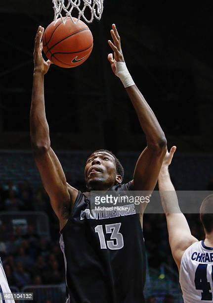 Paschal Chukwu of the Providence Friars shoots the ball against the Butler Bulldogs at Hinkle Fieldhouse on January 6 2015 in Indianapolis Indiana...