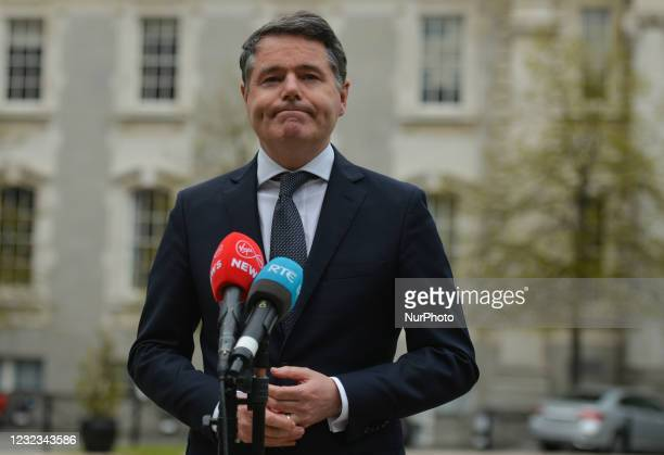 Paschal Donohoe, Irish Minister for Finance, during the Media briefing at Government Buildings in Dublin. KBC Bank Ireland has announced today that...
