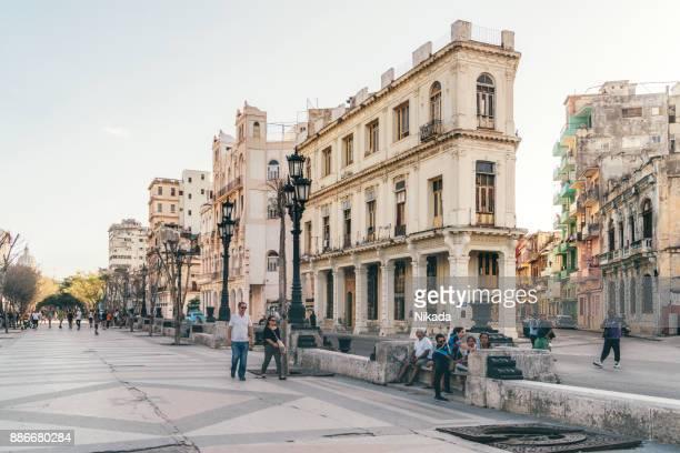 paseo del prado, old havana street - prado stock pictures, royalty-free photos & images