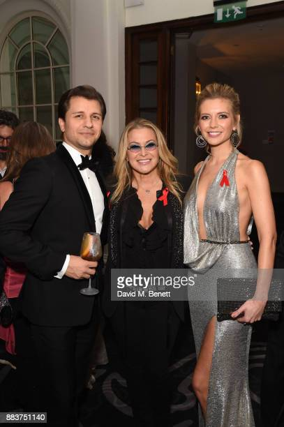 Pasha Kovalev Anastacia and Rachel Riley attend the World Aids Day Charity Gala aimed at using football to educate and inspire vulnerable young...