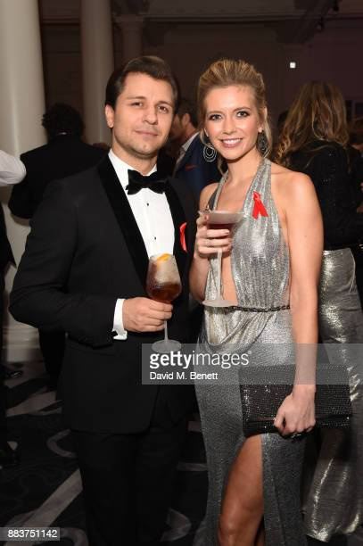 Pasha Kovalev and Rachel Riley attend the World Aids Day Charity Gala aimed at using football to educate and inspire vulnerable young people in...