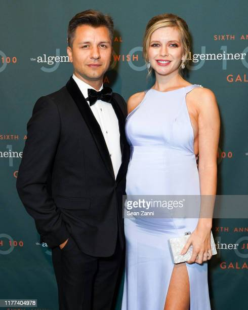 Pasha Kovalev and Rachel Riley attends Sir Ben Kingsley And Rachel Riley Honored By The Algemeiner At J100 Gala at Gotham Hall on September 26 2019...