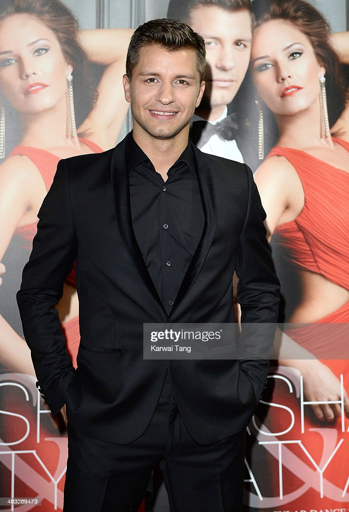 Pasha Kovalev attends the VIP preview evening for 'Katya & Pasha' held at the Lyric Theatre on April 7, 2014 in London, England.