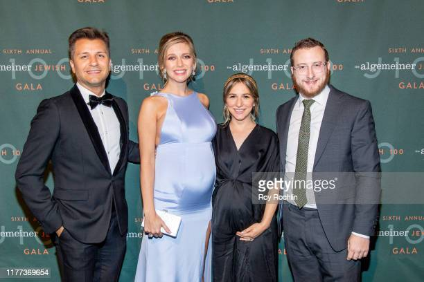 Pasha Kovalev with TV personality Rachel Riley Algemeiner Editor and Chief Dovid Efune with wife Mushka Efune attend the 6th Annual Algemeiner J100...