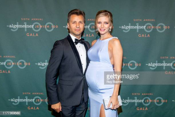 Pasha Kovalev with TV personality Rachel Riley attends the 6th Annual Algemeiner J100 Gala at Gotham Hall on September 26 2019 in New York City