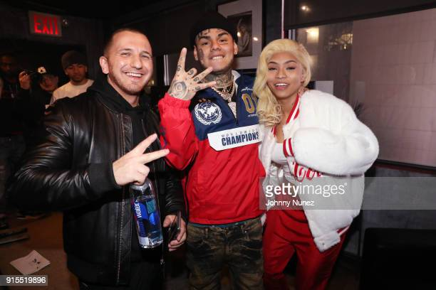 Pasha PG Tekashi 69 and Cuban Doll attend a Studio Session at Quad Studios on February 6 2018 in New York City