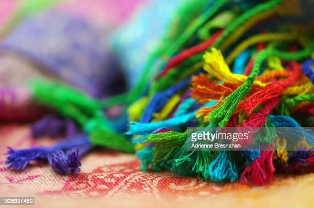 pashmina shawl fringe - tassel stock pictures, royalty-free photos & images