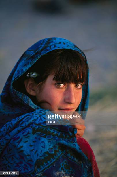 2004 Pashtun Tribal Zone Afghanistan Portrait of a little Afghan girl The Pashtun Tribal Zone has been a crossroads and a territory occupied by waves...