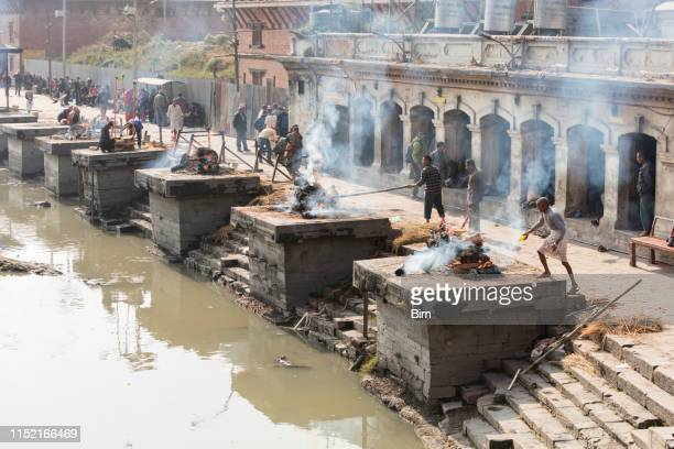 pashupatinath temple in kathmandu, nepal - cremation stock pictures, royalty-free photos & images
