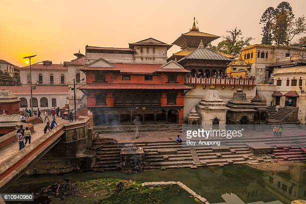 pashupatinath temple in kathmandu nepal. - pashupatinath stock pictures, royalty-free photos & images