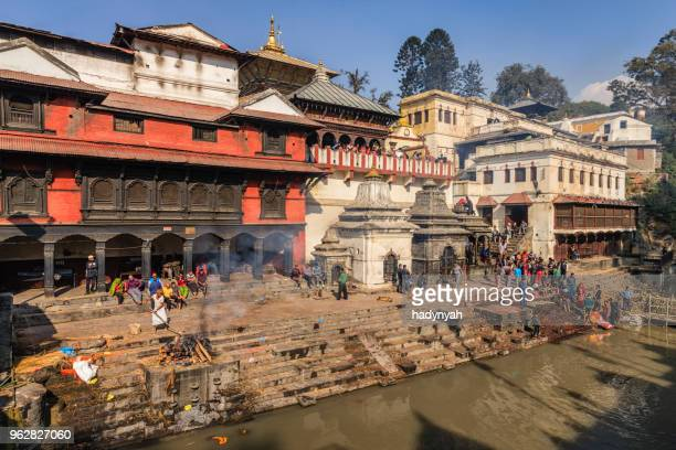 pashupatinath temple in kathmandu - nepal stock pictures, royalty-free photos & images