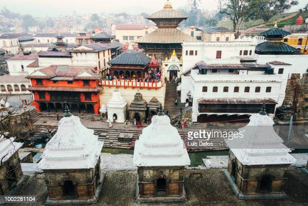 pashupatinath temple overview - カトマンズ ストックフォトと画像
