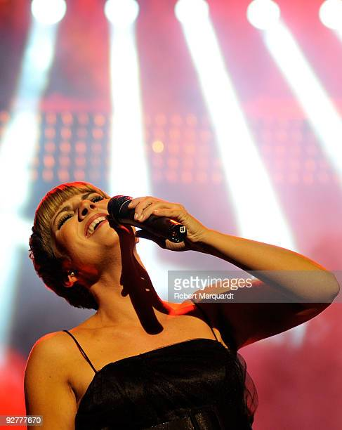 Pasion Vega performs during the 2009 Onda Awards held at the Theater Liceu on November 4 2009 in Barcelona Spain