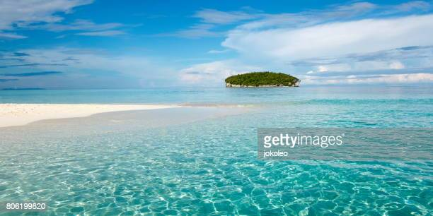 pasir timbul, raja ampat island - raja ampat islands stock photos and pictures