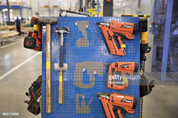 Blueprint robotics stock photos and pictures getty images paslode fasteners co nail guns hang next to hand tools at the blueprint robotics facility in malvernweather Choice Image