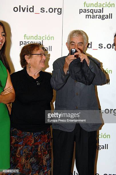Pasqual Maragall and Diana Garrigosa attend Pasqual Maragall Foundation against Alzheimer disease on September 17 2014 in Barcelona Spain