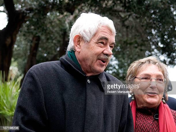 Pasqual Maragall and Diana Garrigosa attend the 'Protagonistas Award 2010' at the Palau de Congressos de Catalunya on November 29 2010 in Barcelona...