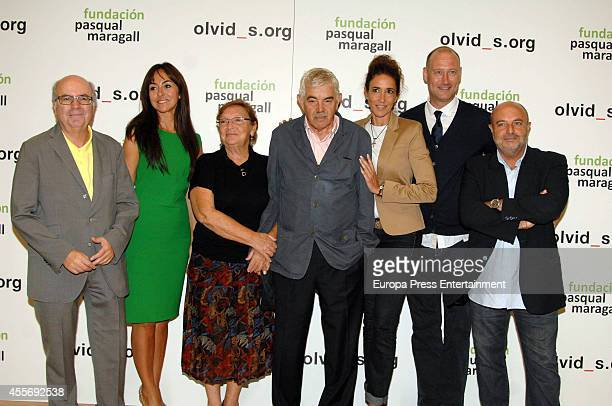 Pasqual Maragall Diana Garrigosa and Elsa Anka attend Pasqual Maragall Foundation against Alzheimer disease on September 17 2014 in Barcelona Spain