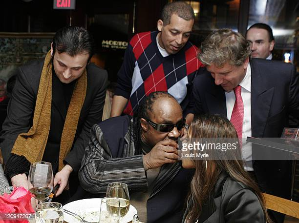 Pasqual Narcquno Brian Le Roder Antonio Mellino Stevie Wonder and wife Kai Milla fashion designer