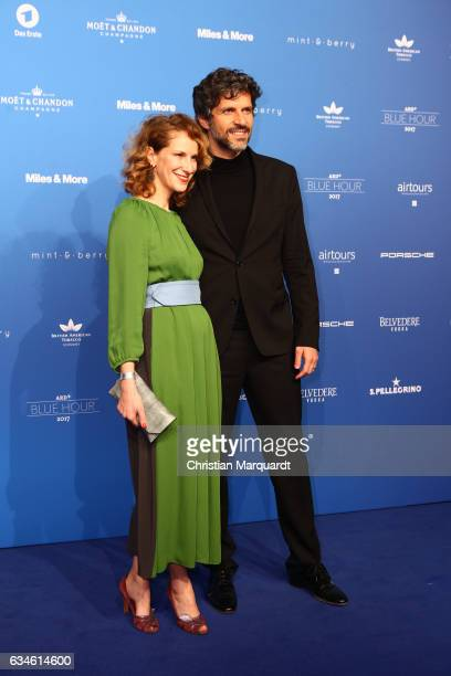 Pasquale Aleardi and Chiara Schoras attend the Blue Hour Reception hosted by ARD during the 67th Berlinale International Film Festival Berlin on...