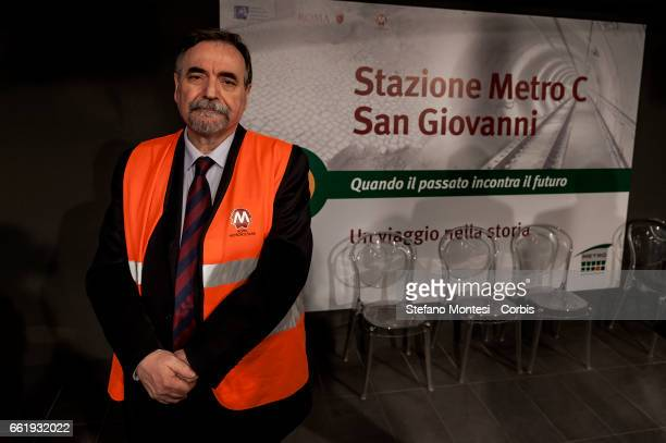 Pasquale Cialdini sole director of Rome Metropolitan during the presentation to the press of the new stop Metro C in San Giovanni on March 31 2017 in...