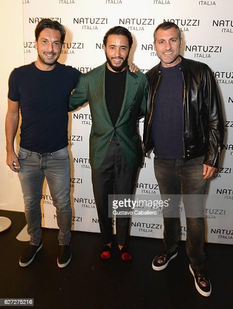 Pasquale Junior Natuzzi Soccer Player Christian Vieri and guest attend the Natuzzi Presents The US Debut Of Intro By Fabio Novembre at Natuzzi...