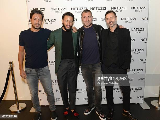 Pasquale Junior Natuzzi Soccer Player Christian Vieri Fabio Novembre and guest attend the Natuzzi Presents The US Debut Of Intro By Fabio Novembre at...