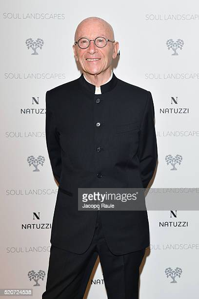 Pasquale Natuzzi attends Natuzzi Soul Landscapes on April 12, 2016 in Milan, Italy.