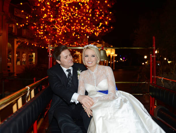 Pasquale Rotella And Holly Madison During Their Wedding Reception At Disneyland On September 10 2013