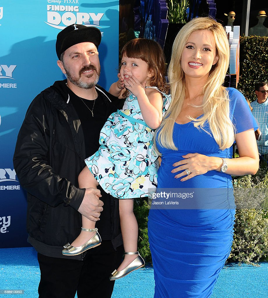 Pasquale Rotella, Holly Madison and daughter Rainbow Aurora Rotella attend the premiere of 'Finding Dory' at the El Capitan Theatre on June 8, 2016 in Hollywood, California.