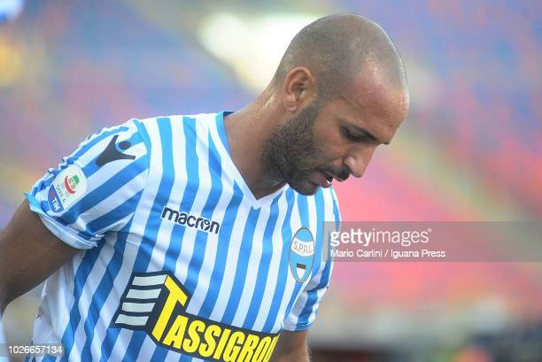 Pasquale Schiattarella of SPAL looks on during the serie A match between SPAL and Parma Calcio at Stadio Renato Dall'Ara on August 26 2018 in Bologna...