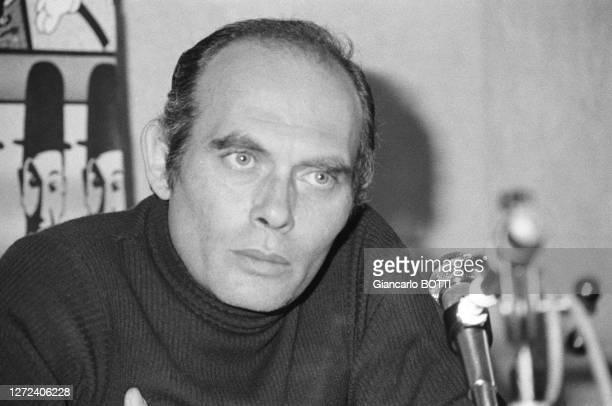 Pasquale Squitieri lors d'une conférence de presse en novembre 1977