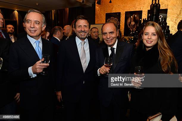 Pasquale Terracciano Rocco Forte Bruno Vespa and Lydia Forte attend the Vespa wine presentation hosted by Angelo Galasso and Dylan Jones at the...