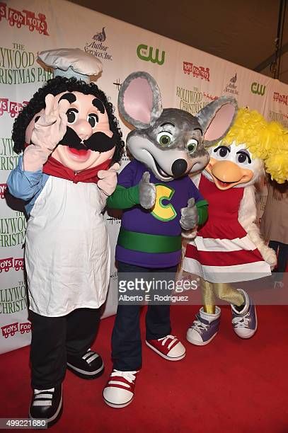 Pasqually The Chef Chuck E Cheese and Helen Henny attend 2015 Hollywood Christmas Parade on November 29 2015 in Hollywood California