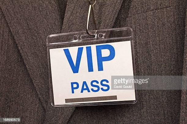 VIP pass badge