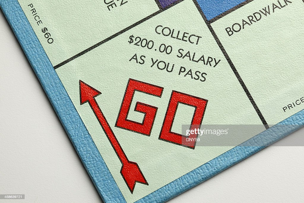 Pass Go Collect $200.00 : Stock Photo