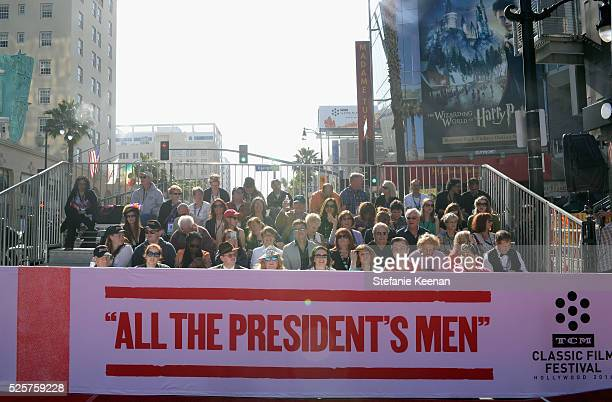 Pass holders attend 'All The President's Men' premiere during the TCM Classic Film Festival 2016 Opening Night on April 28 2016 in Los Angeles...