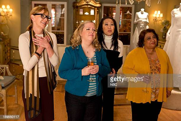 GO ON 'Pass Interference' Episode 115 Pictured Julie White as Anne Sarah Baker as Sonia Suzy Nakamura as Yolanda Tonita Castro as Fausta