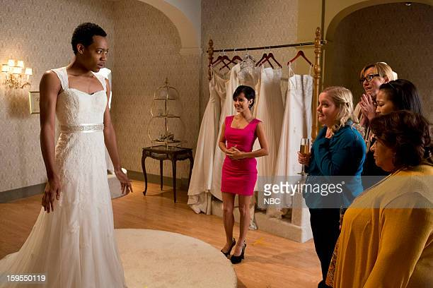 GO ON 'Pass Interference' Episode 115 Pictured Tyler James Williams as Owen Julie White as Anne Sarah Baker as Sonia Tonita Castro as Fausta