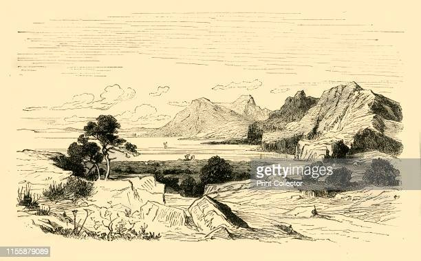 Pass of Thermopylae', 1890. Thermopylae, a narrow coastal passage, -famous for the battle between the Greek Spartans and invading Persian forces in...